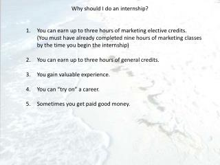 Why should I do an internship