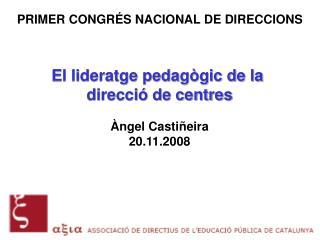 PRIMER CONGR S NACIONAL DE DIRECCIONS