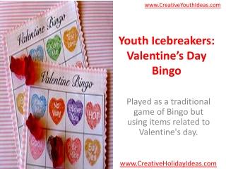 Youth Icebreakers: Valentine's Day Bingo