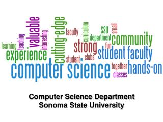 Computer Science Department Sonoma State University