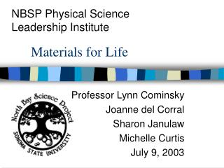 Materials for Life