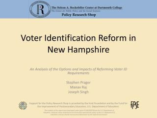 Voter Identification Reform in New Hampshire