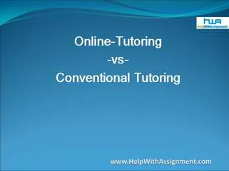 Online tutoring vs conventional tutoring
