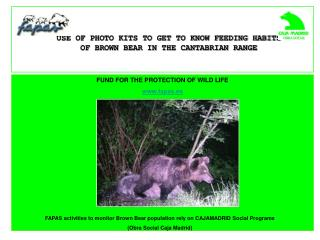 FUND FOR THE PROTECTION OF WILD LIFE www.fapas.es