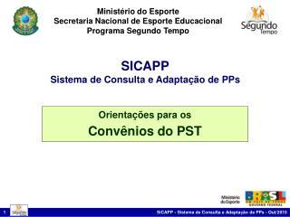 Minist rio do Esporte Secretaria Nacional de Esporte Educacional Programa Segundo Tempo