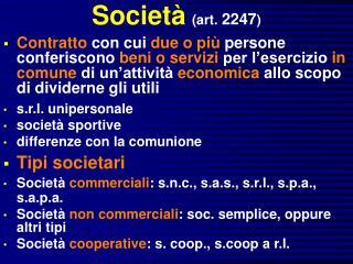 Societ  art. 2247