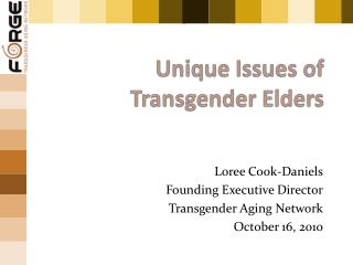 Uni que Issues of Transgender Elders