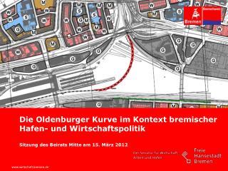 Die Oldenburger Kurve im Kontext bremischer Hafen- und Wirtschaftspolitik  Sitzung des Beirats Mitte am 15. M rz 2012