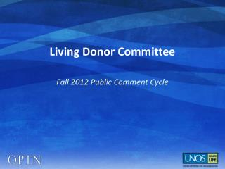 Living Donor Committee