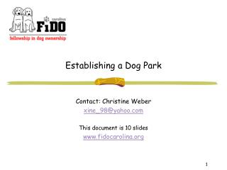 Establishing a Dog Park