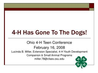 4-H Has Gone To The Dogs