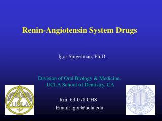 Renin-Angiotensin System Drugs