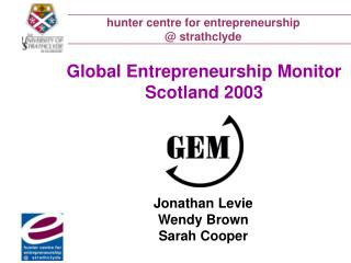 Hunter centre for entrepreneurship   strathclyde