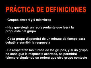 PR CTICA DE DEFINICIONES