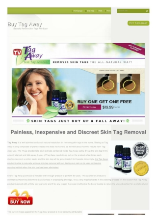 Easily Get Rid of Skin Tags with Tag Away