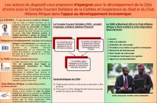 Le SIAD   Montreuil 93 et le Club Affaires Afrique   Paris mettent   votre disposition leurs services: