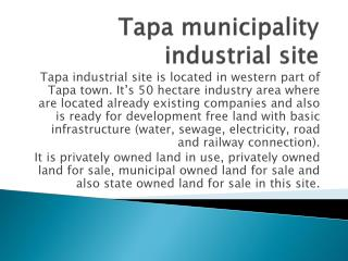 Tapa municipality industrial site