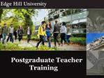 Postgraduate Teacher Training
