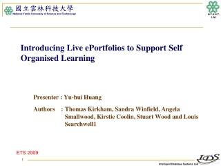 EPortfolios   An Integrating Framework