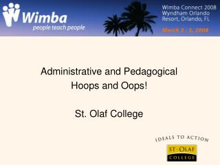 Wimba at St.Olaf