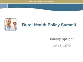 Rural Health Policy Summit