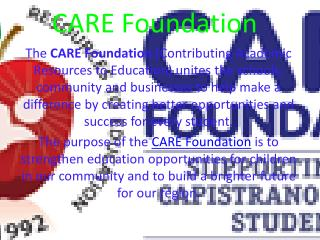 Care Foundation Mission