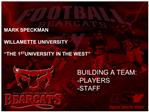 MARK SPECKMAN  WILLAMETTE UNIVERSITY   THE 1ST UNIVERSITY IN THE WEST