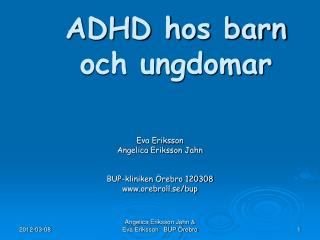 ADHD hos barn och ungdomar