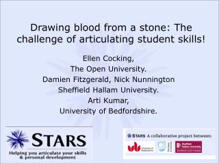 Drawing blood from a stone: The challenge of articulating student skills