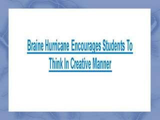 Brain Hurricane Tutor