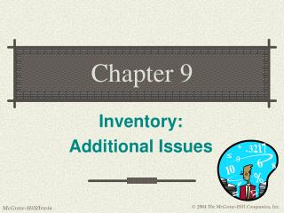 Inventory: Additional Issues