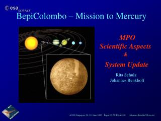 BepiColombo   Mission to Mercury