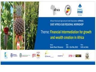 EAST AFRICA SUB REGIONAL EACRAT WORKSHOP