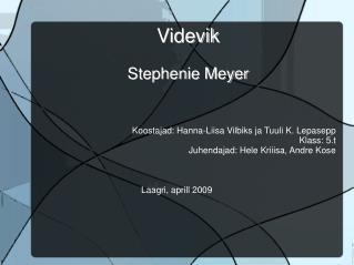 Videvik  Stephenie Meyer