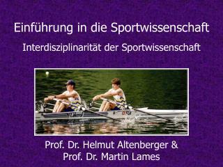Einf hrung in die Sportwissenschaft  Interdisziplinarit t der Sportwissenschaft