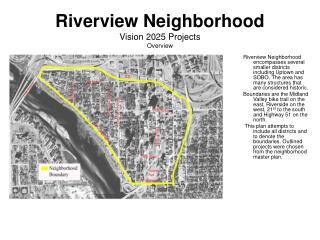 Riverview Neighborhood Vision 2025 Projects Overview