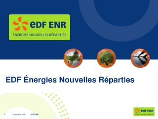 EDF  nergies Nouvelles R parties