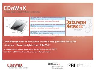 Data Management in Scholarly Journals and possible Roles for Libraries   Some Insights from EDaWaX
