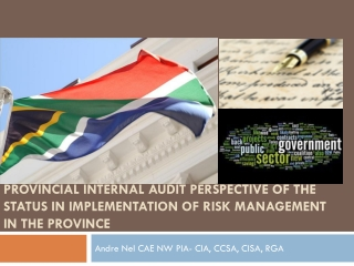 Risk Management  Internal Audit in  the Public Sector