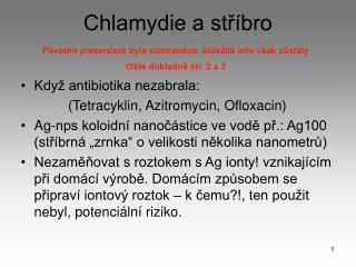 Chlamydie a str bro