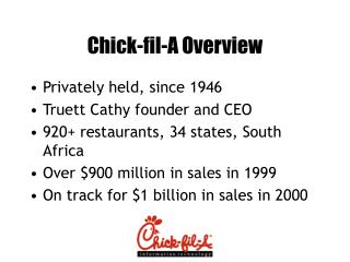 Chick-fil-A Overview