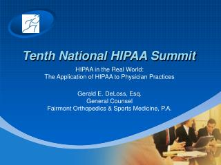Tenth National HIPAA Summit