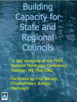 Capacity Building for meeting water challenges