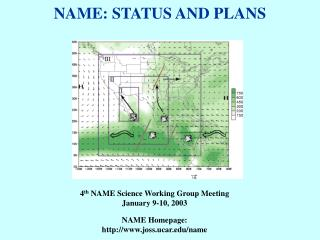 NAME: STATUS AND PLANS