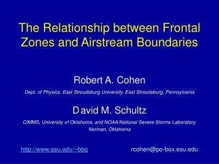 The Relationship between Frontal Zones and Airstream Boundaries