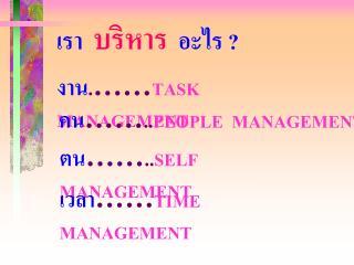 .  TASK  MANAGEMENT