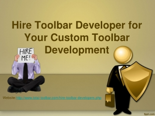 Hire Toolbar Developer for Your Custom Toolbar Development i