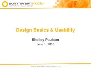 Design Basics  Usability