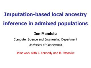 Imputation-based local ancestry inference in admixed populations
