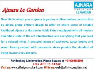 Ajnara Le Garden Noida Extension